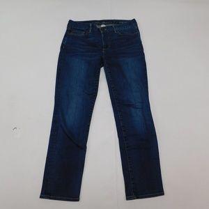 Eddie Bauer 6 Blue Denim Jeans Slightly Curvy Cott